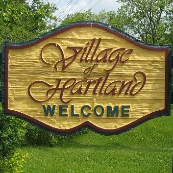 Village of Hartland - sign